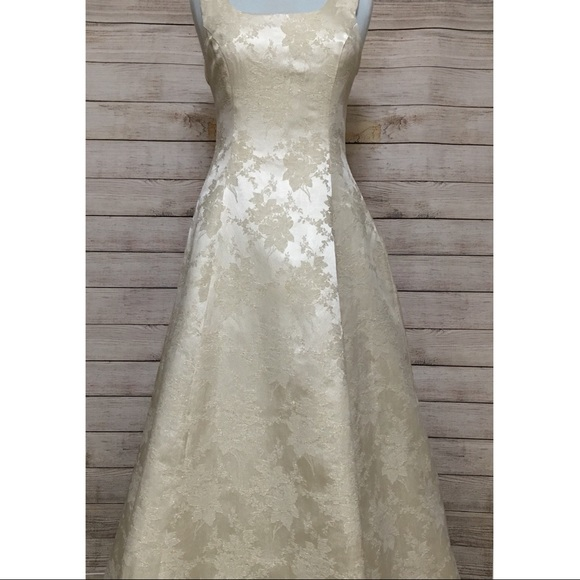 Vintage Ivory and Gold Scott McClintock Gown